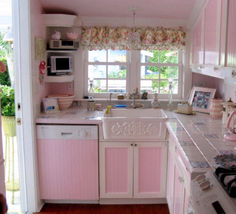Kitchen Pink Cottage Style ヴィンテージキッチン インテリア ガーリー 家