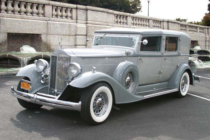 1933 Vintage Packard Automobile On Long Island By All Star Limo