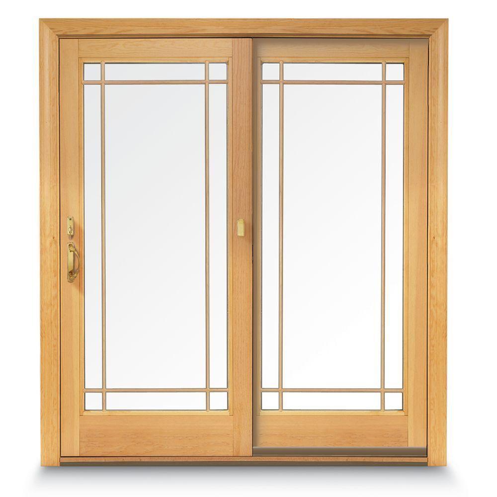 Andersen 72 In X 80 In 400 Series Frenchwood White Sliding Patio Door Fixed Panel Universal Handing 9122370 The Home Depot Sliding Patio Doors Patio Doors Traditional French Doors