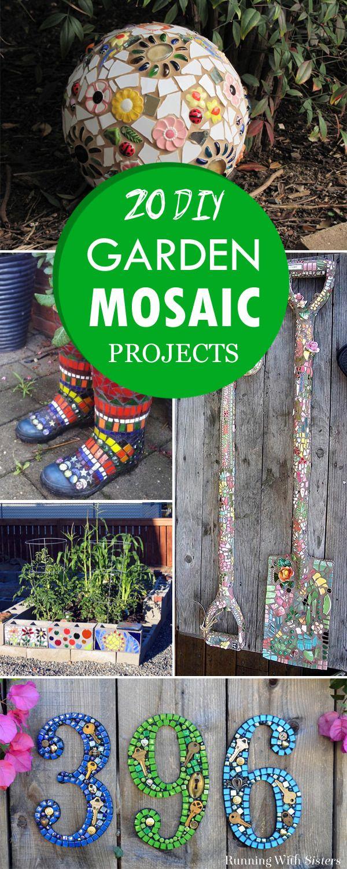 20 Creative DIY Garden Mosaic Projects   Mosaic garden, Garden ...