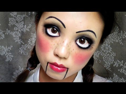 Easy Halloween Makeup Creepy Cute Doll (中文字幕) Halloween - cute makeup ideas for halloween