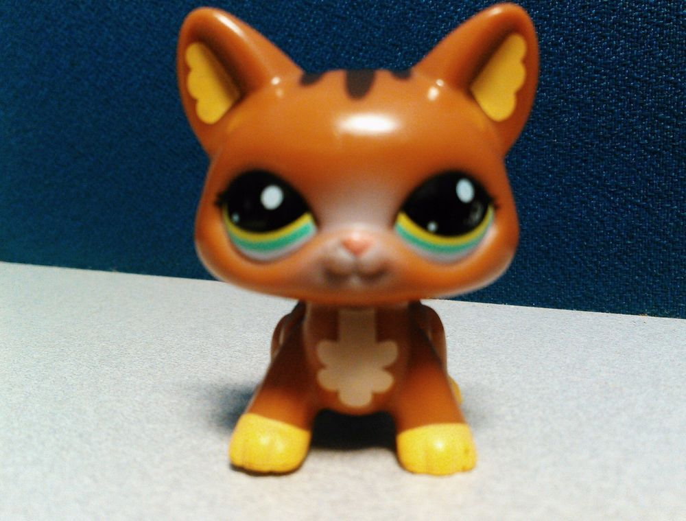 Littlest Pet Shop Walkables-Walking- Brown Kitty Cat- Working & Rare #Hasbro