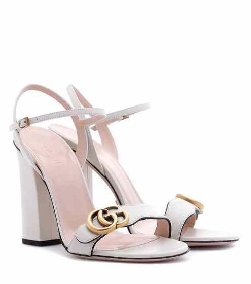 Leather sandals | Gucci | Embellished