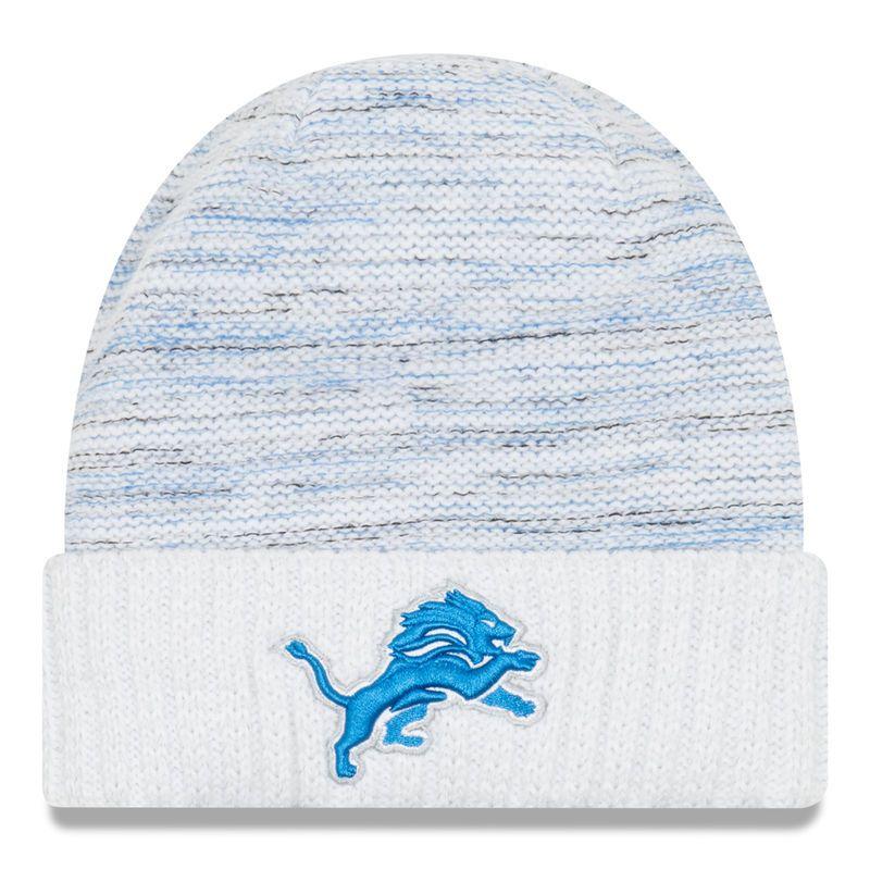 better super cheap free shipping Detroit Lions New Era 2017 Color Rush Kickoff Knit Hat - White ...