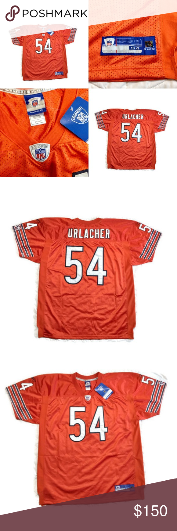 competitive price a4baf 5b024 Reebok Chicago Bears Urlacher NFL On Field Jersey New with ...