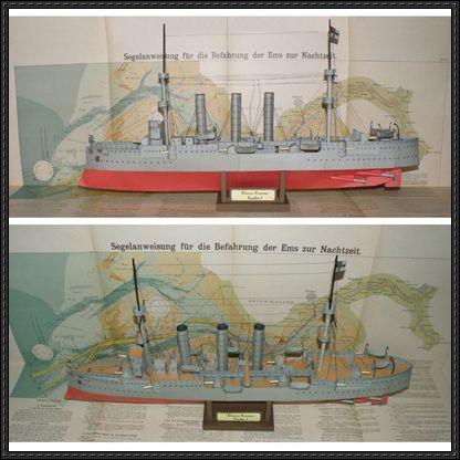 Wwi Sms Emden Light Cruiser Free Ship Paper Model Download Paper Models Model Ships Card Model