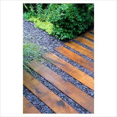 Green oak paving with slate chippings   Slate garden ...