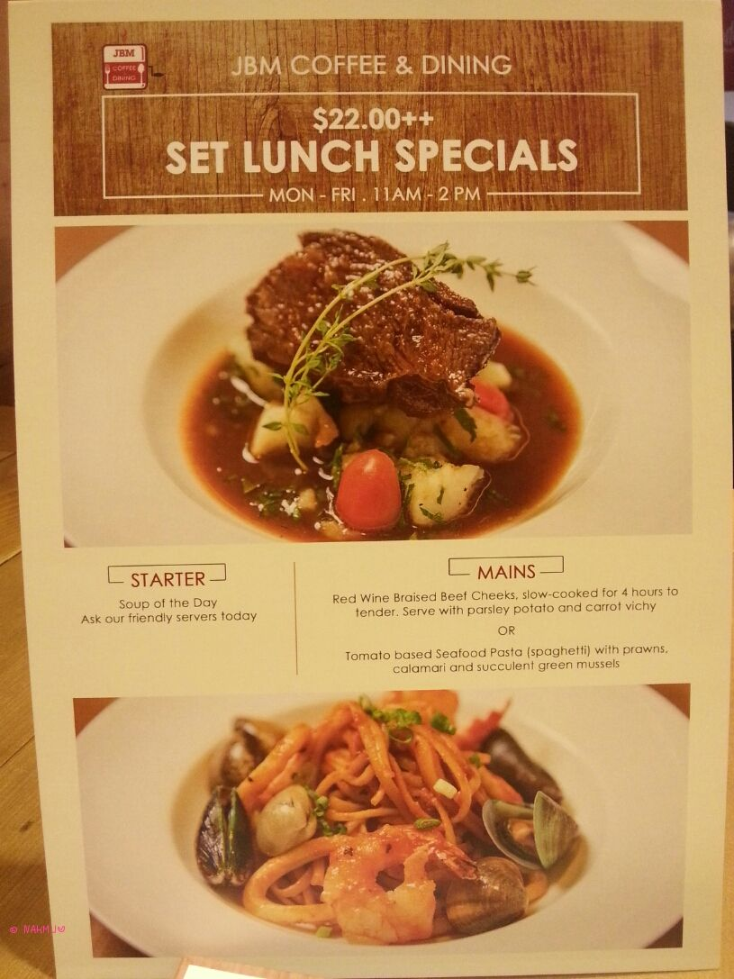 Jbm coffee dining at one raffles place lunch braised