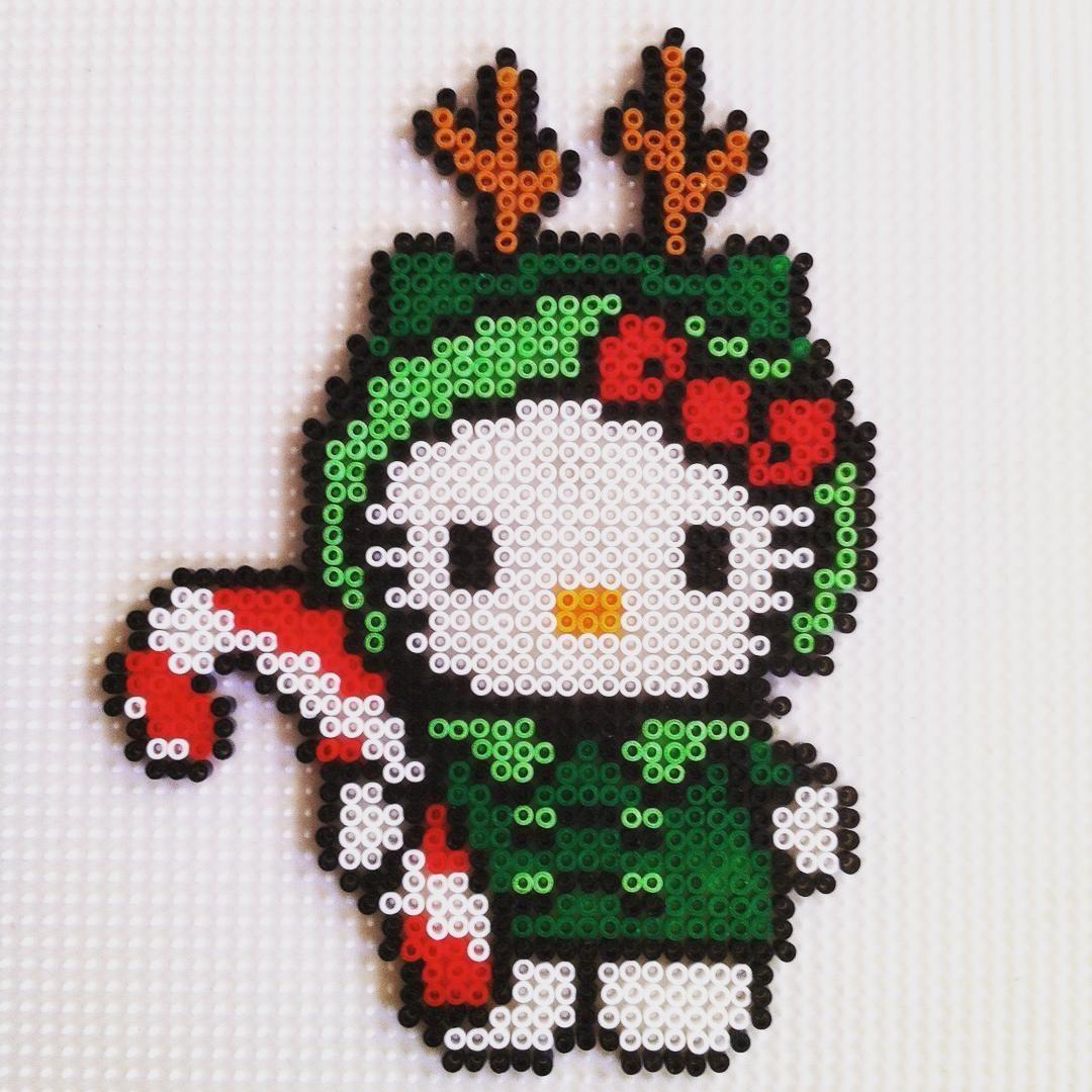 Hello Kitty Hama bead Christmas Reindeer Elf