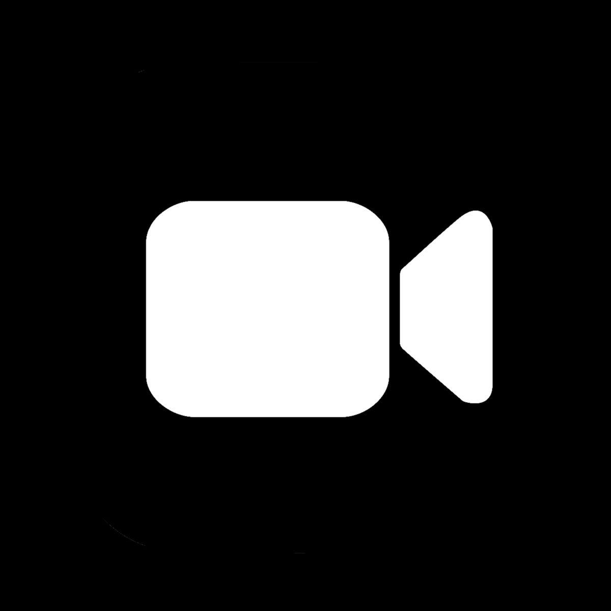 Black Facetime Icon Ios Icon App Icon Black App