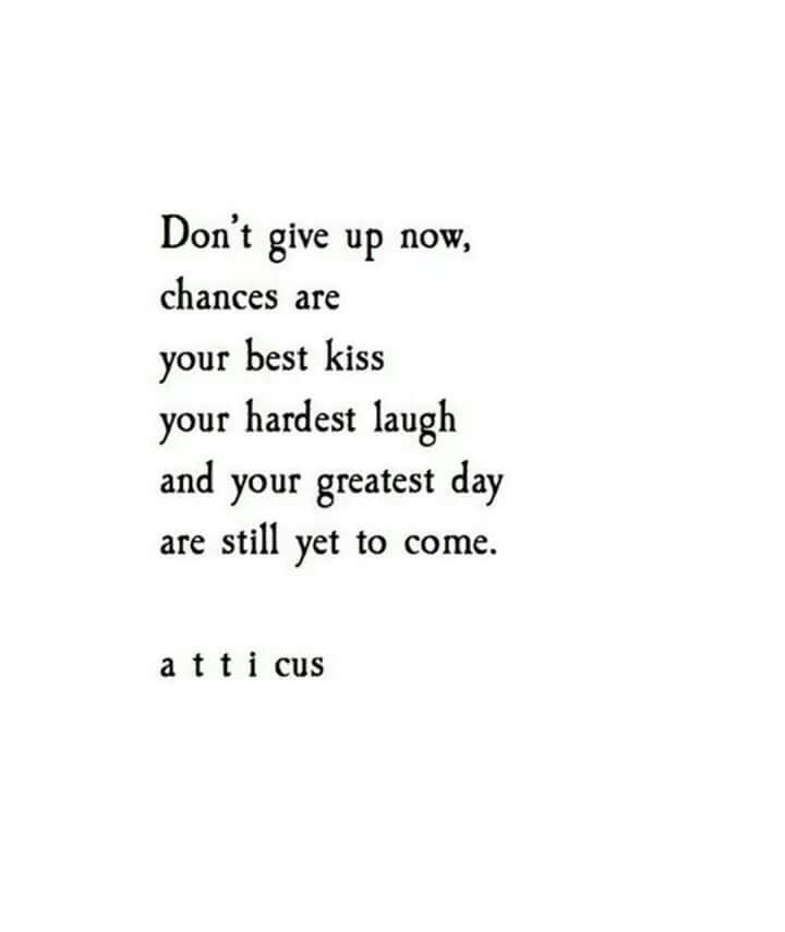 I Wont Give Up On You Words Quotes Poem Quotes Atticus Quotes