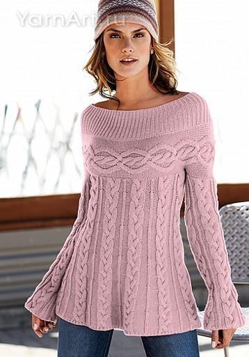 Skirted Sweater | jerseys | Pinterest | Strickstiche, Strick und Tuniken