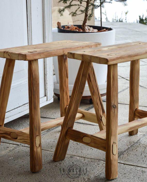 handmade wooden stool,milking,spruce barn wood,bathroom furniture ...