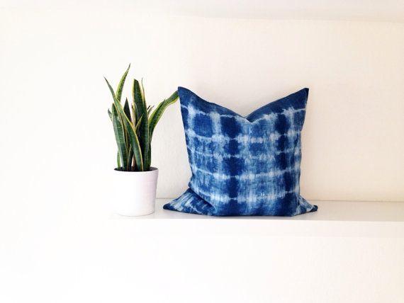 Shibori Pillow Cover by IndigoMoonLove on Etsy