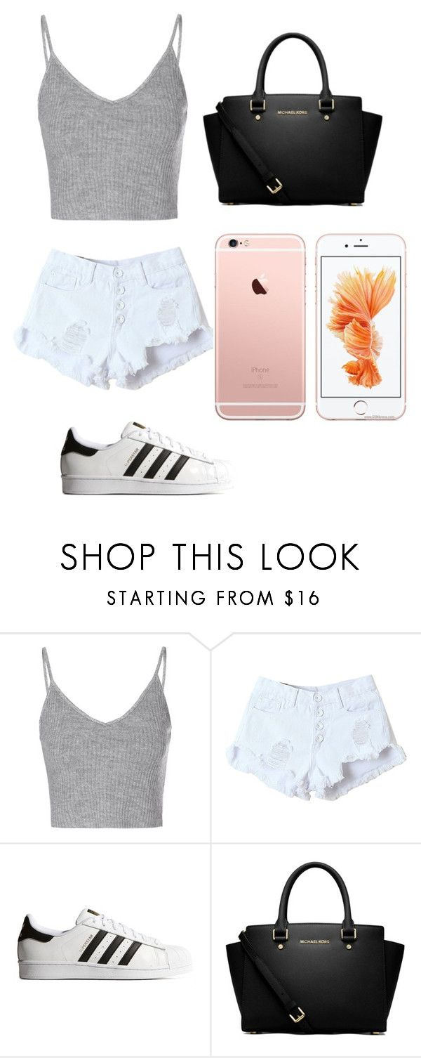 """""""hiii"""" by liederveen on Polyvore featuring Glamorous, adidas Originals and MICHAEL Michael Kors"""