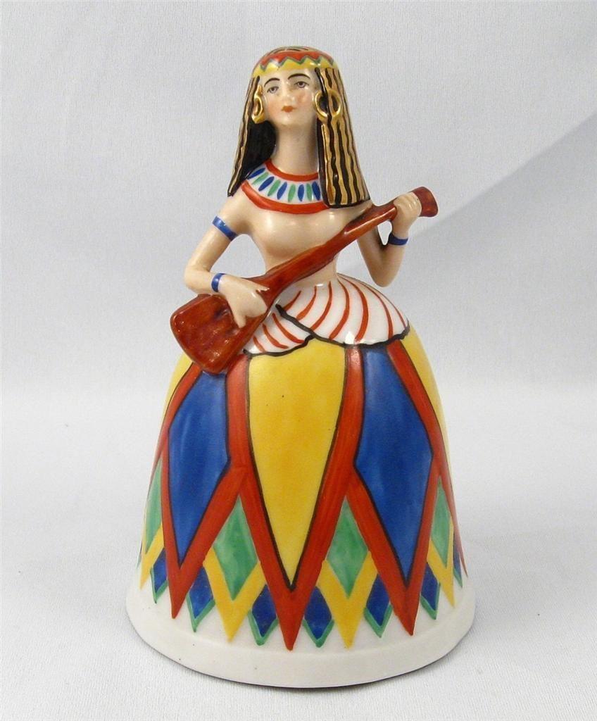 1920`s German Half Doll Related Art Deco Figural Porcelain Bell | eBay