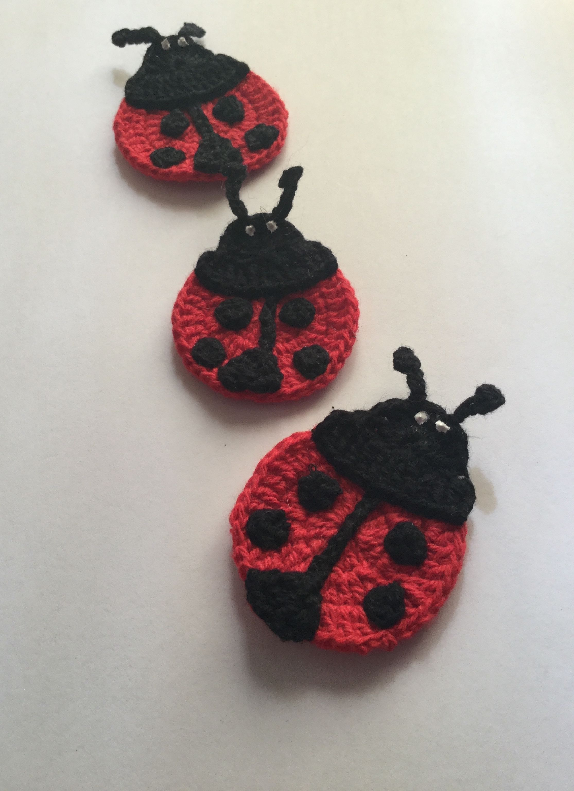 Crochet Ladybug Applique Pattern