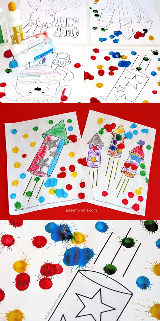 Super Easy 4th Of July Coloring Pages Craft Idea Patriotic