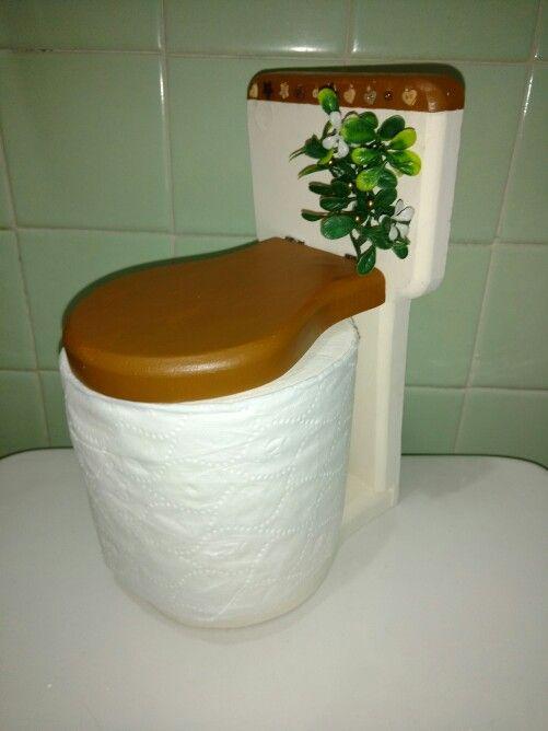 Taza de baño porta rollo de papel higienico de madera country ...