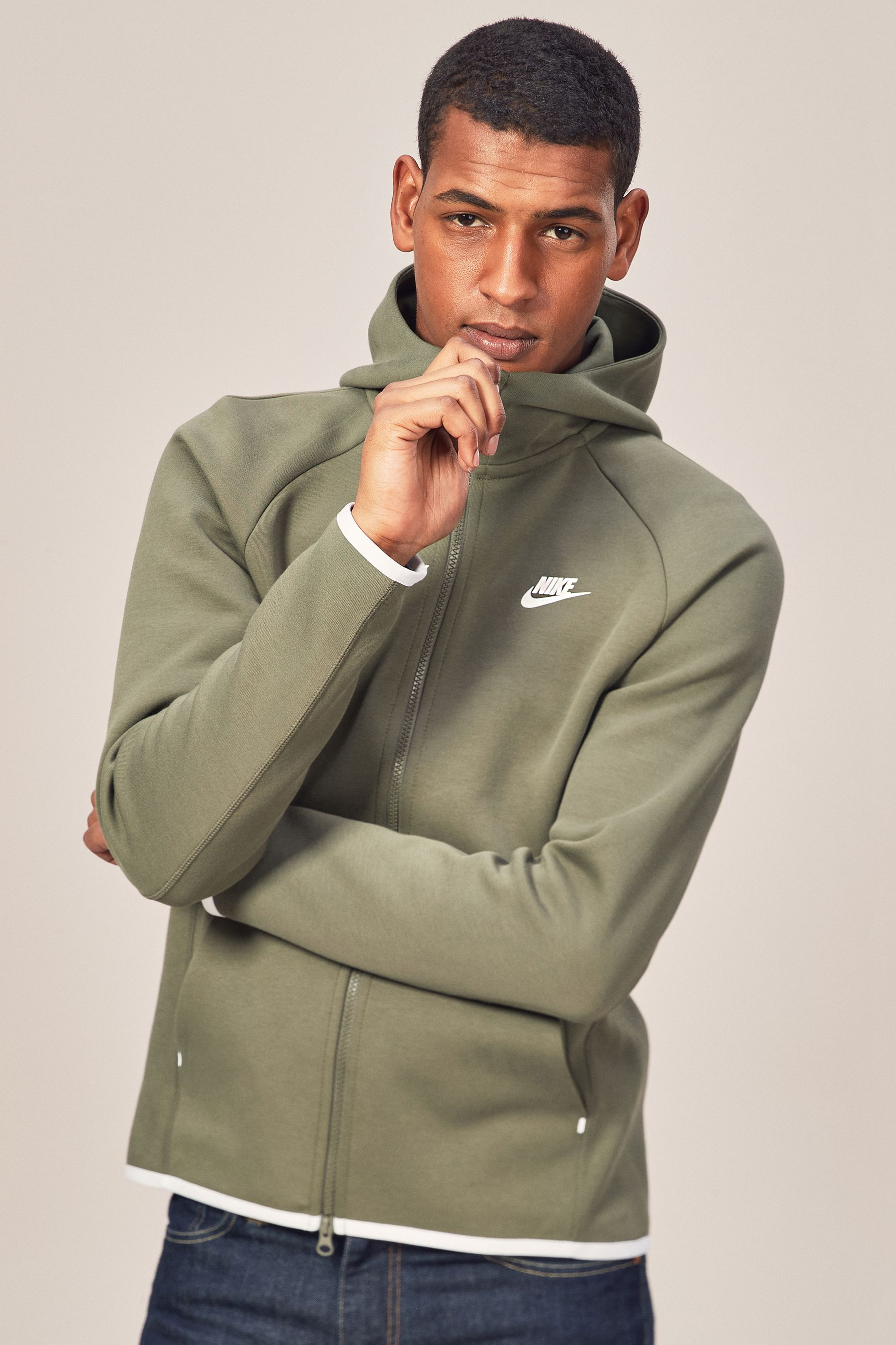Mens nike tech fleece hoody green nike tech fleece