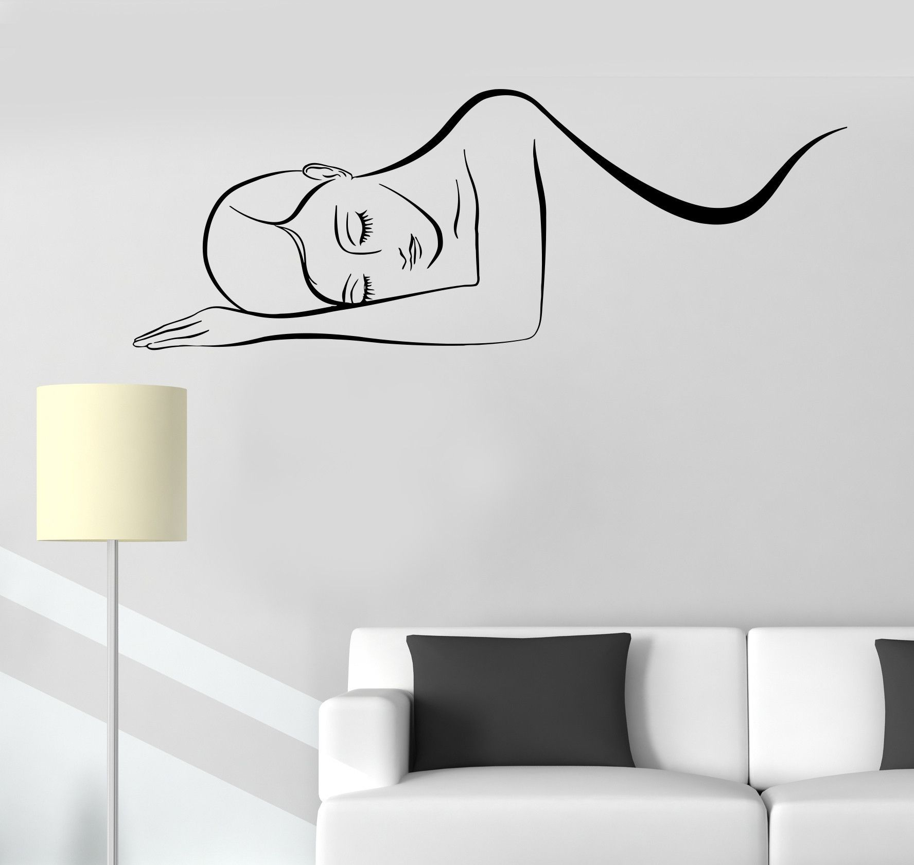 vinyl wall decal massage therapy spa salon relax stickers 323ig