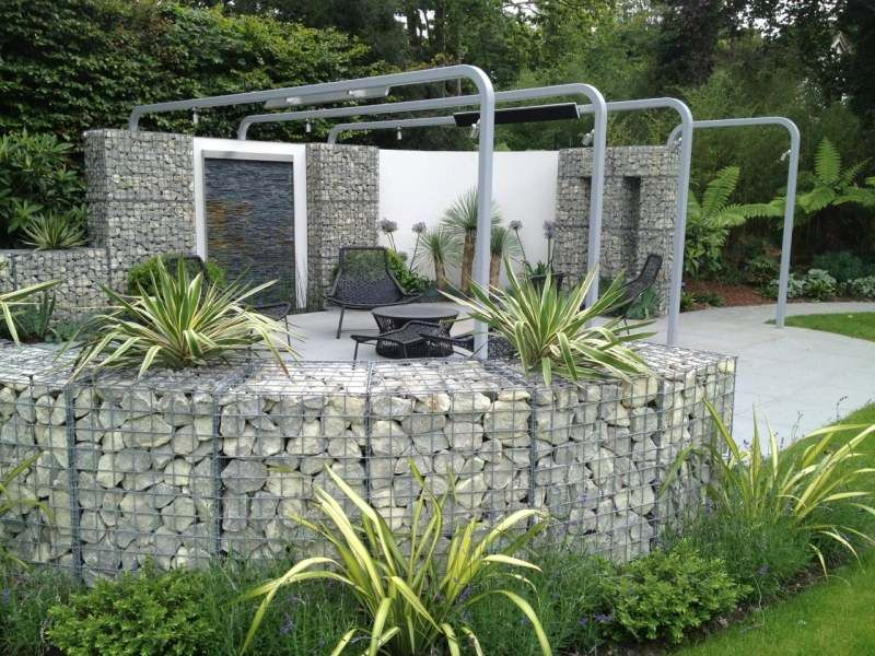 mur et cl ture gabion id es pour le jardin en 33 photos jardin pinterest pergola en. Black Bedroom Furniture Sets. Home Design Ideas