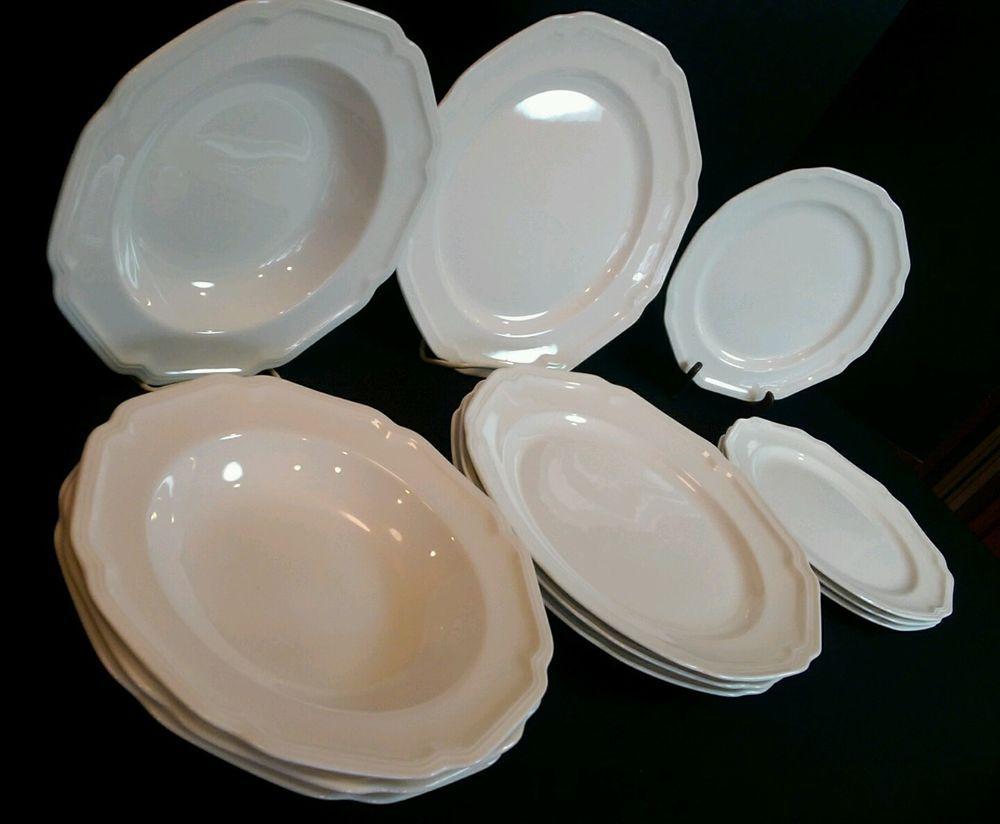 Lot Miikasa Ultima Antique White Dinner Plates Salad