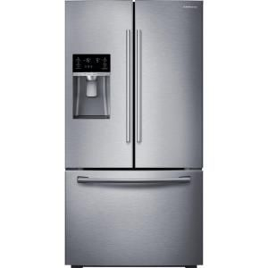 Samsung 28 07 Cu Ft French Door Refrigerator In Stainless Steel Rf28hfedbsr The Home Depot French Door Refrigerator Stainless Steel French Door Refrigerator Counter Depth French Door Refrigerator