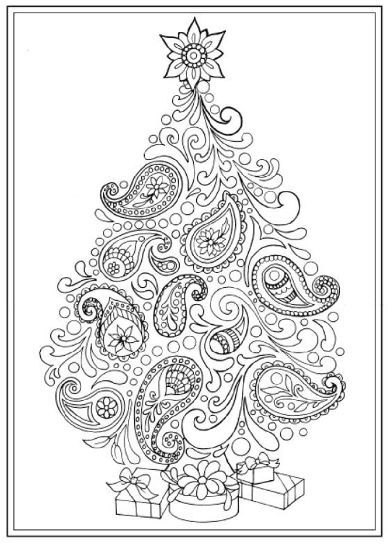 Creative Haven Christmas Trees Coloring Book Dover Publications Christmas Tree Coloring Page Tree Coloring Page Mandala Coloring Pages