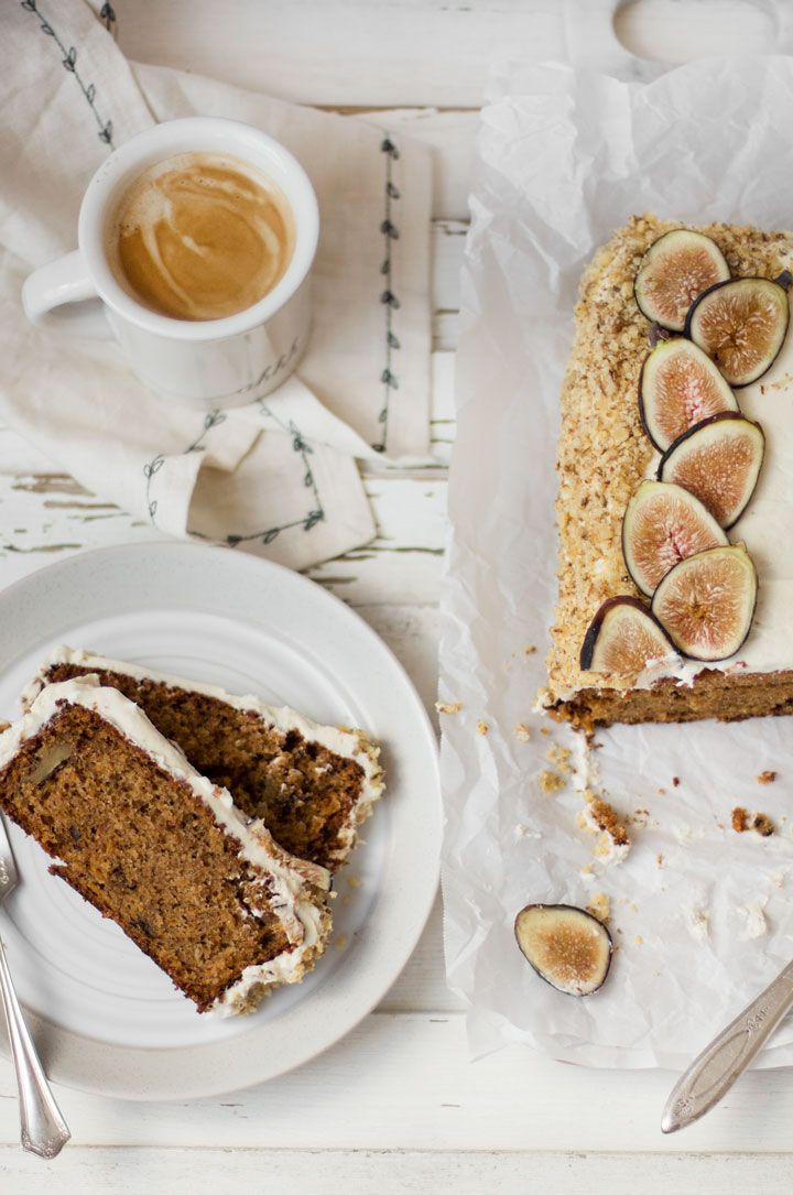 Carrot Cake Loaf with Fresh Figs - Desserts - carrot cake, carrot cake loaf…