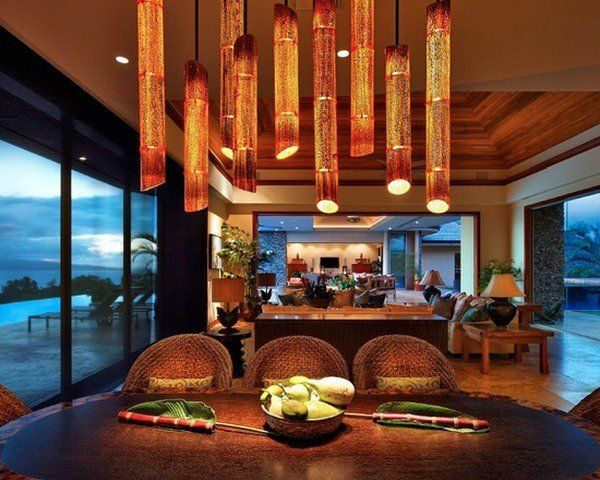 decorative bamboo poles creative home lighting dining room decor