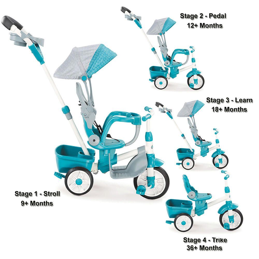 Little Tikes® Perfect Fit 4-in-1 Trike - Easy Adjustable Seat, Teal ...