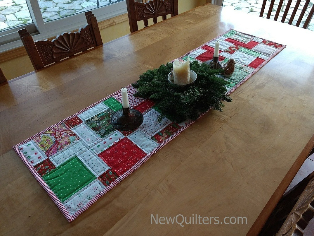 12 Days Of Christmas Quilted Table Runner Tutorial Christmas Table Runner Quilted Table Runners Table Runner And Placemats