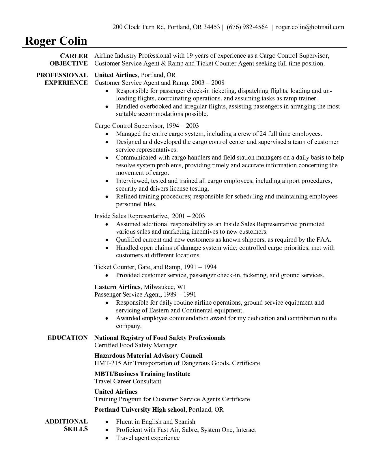 cargo agent cover letter youth leader sample resume curriculum