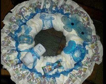 Items similar to Premium Diaper Wreath - CUSTOM - Medium on Etsy