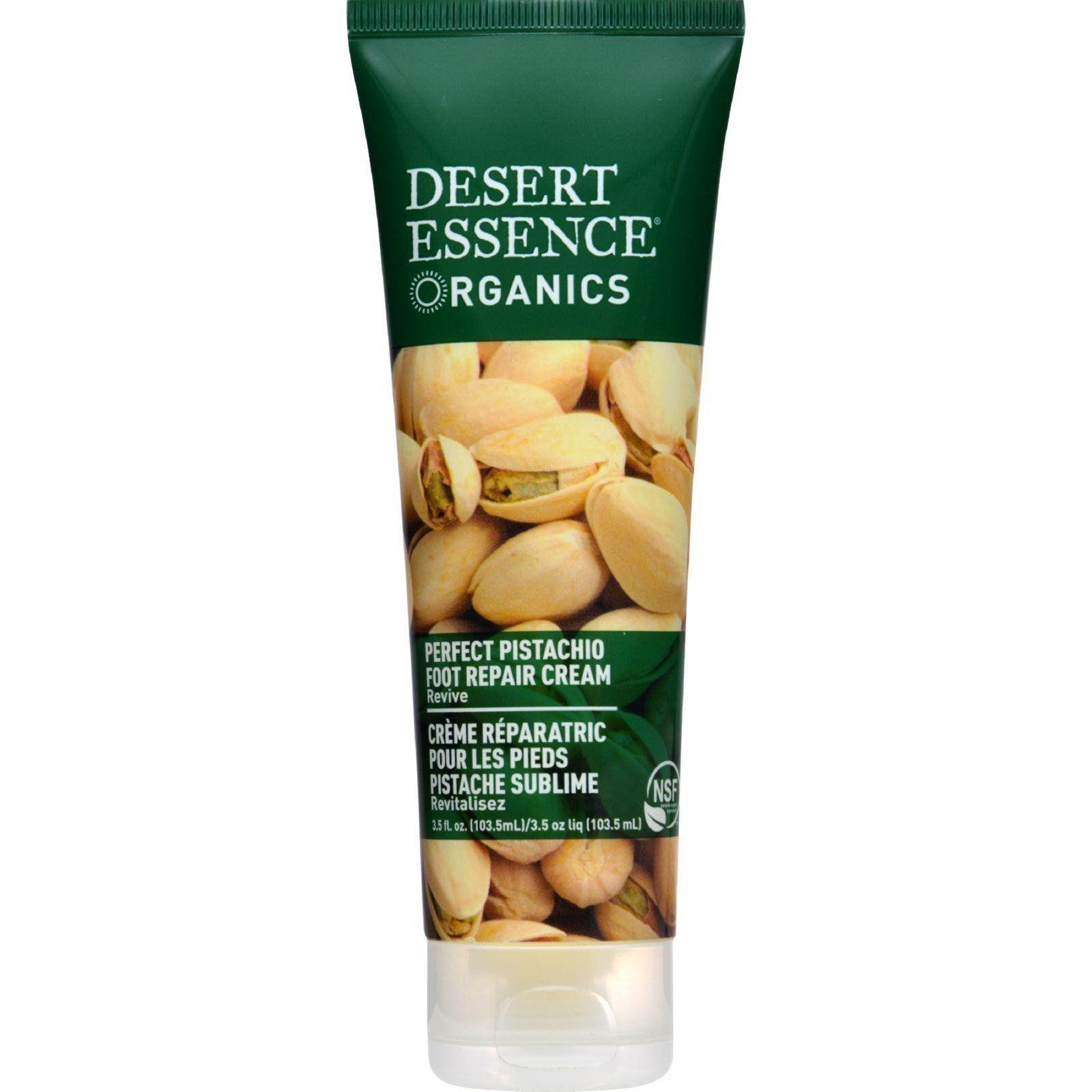 Desert Essence Organic Foot Repair Cream Pistachio -- 3 fl oz Botanical Formula Eye Complex Revitalizing Firming Cream - 1 fl. oz. by Reviva Labs (pack of 12)