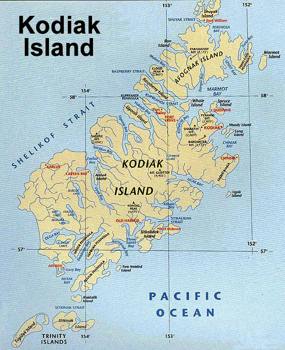 Kodiak Alaska Map kodiak island alaska   I think it would be neat to go there | maps