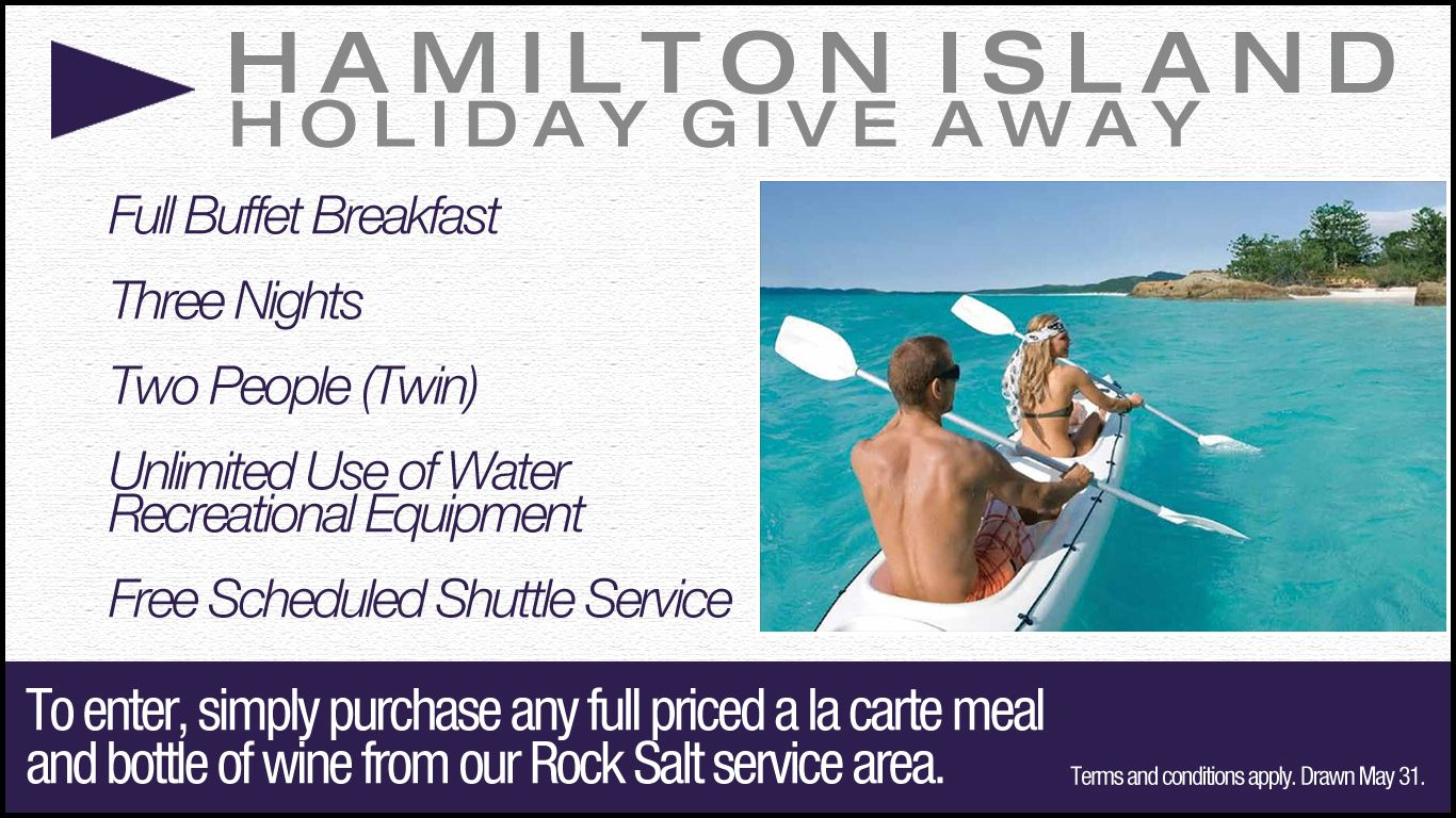 Hamilton Island Give Away (Image). Would you like a design like this for your business? Email: art3sian@gmail.com