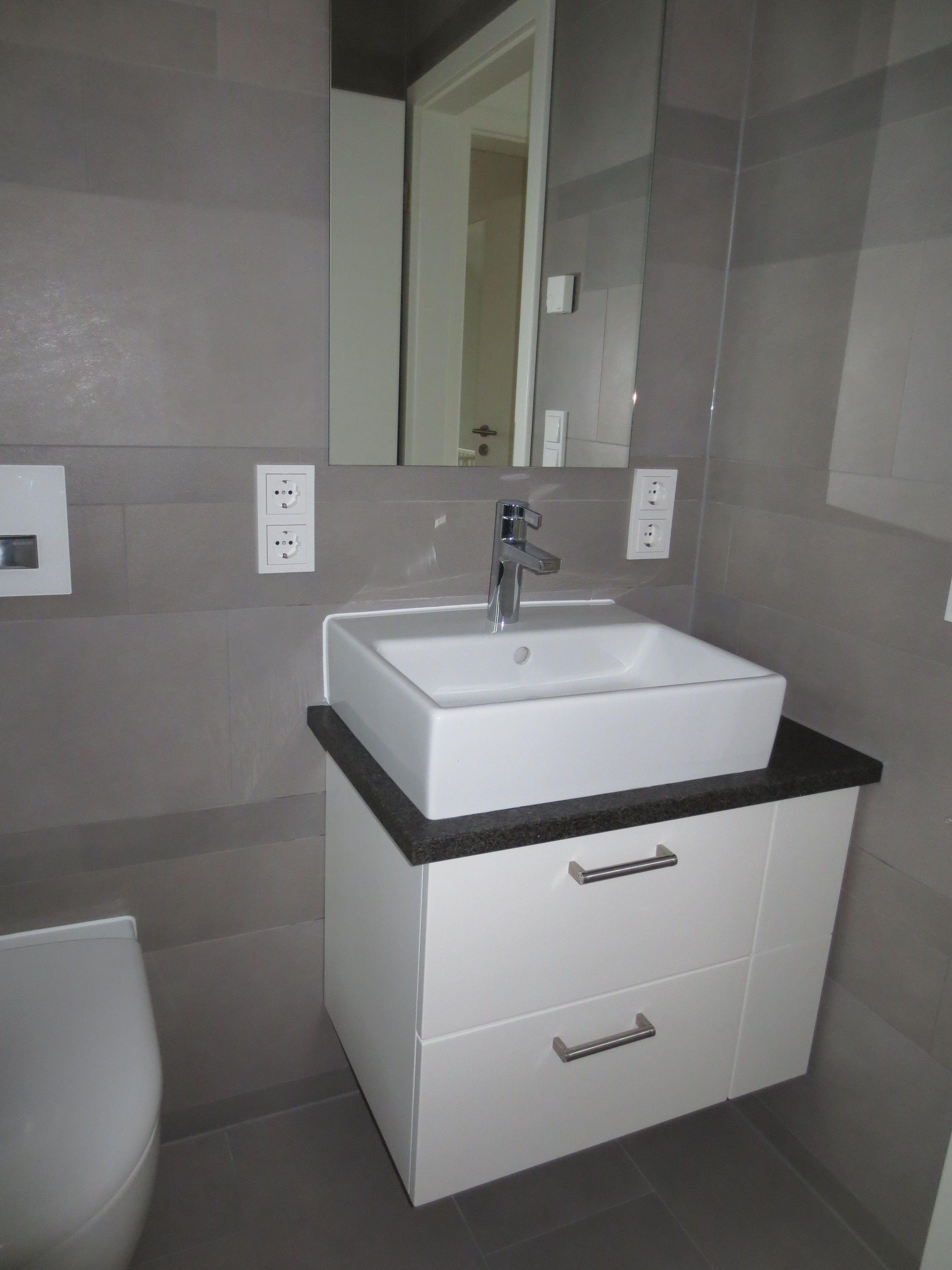 Waschtisch Mit Steinplatte waschtisch in weiß lackiert mit steinplatte l s bäder