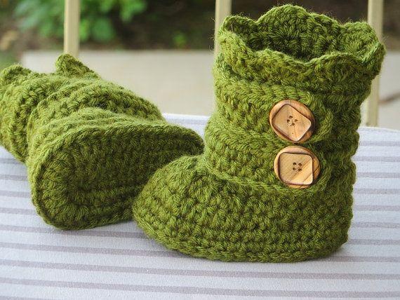 Niño botas Crochet Patrón, patrón de zapatilla niño, niño botines ...