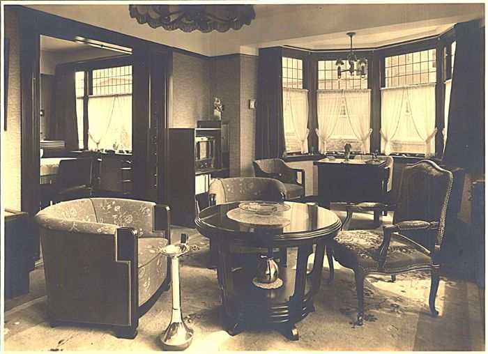 Ca 1935 interieur philips woning kijken op de boschdijk for Interieur 1930
