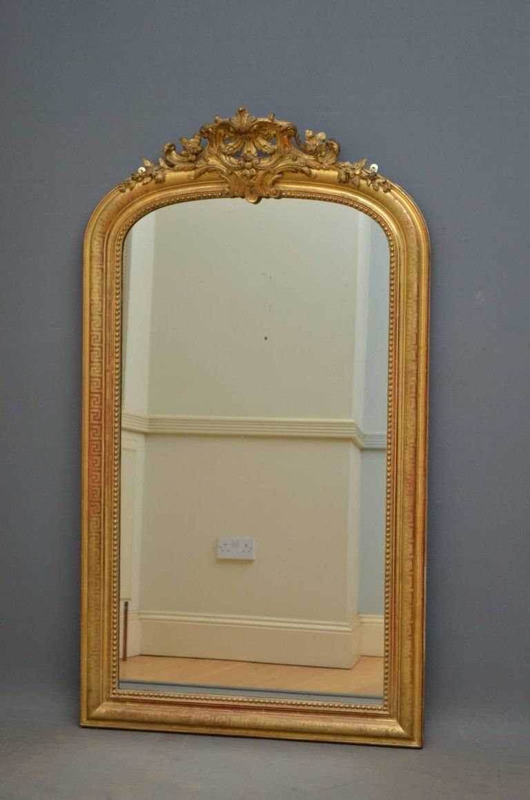 Fabulous 19th Century French Gilt Mirror For Sale At 1stdibs
