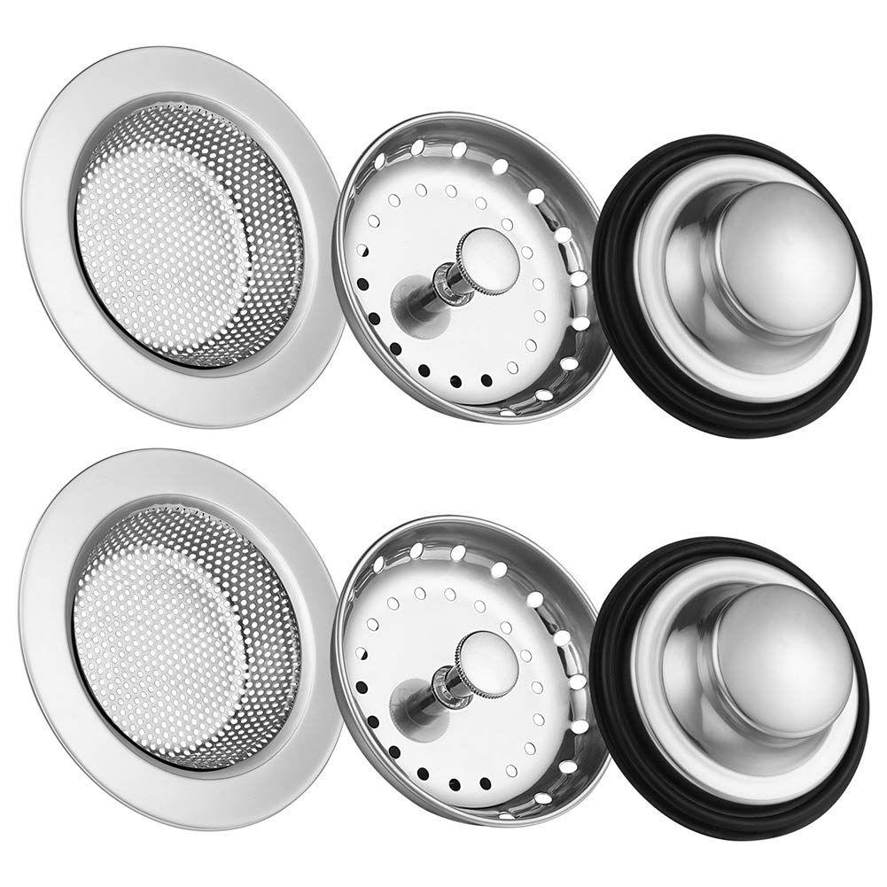 6 Pack Of Kitchen Sink Stopper S Sink Drain Stainless Steel Sinks Kitchen Sink