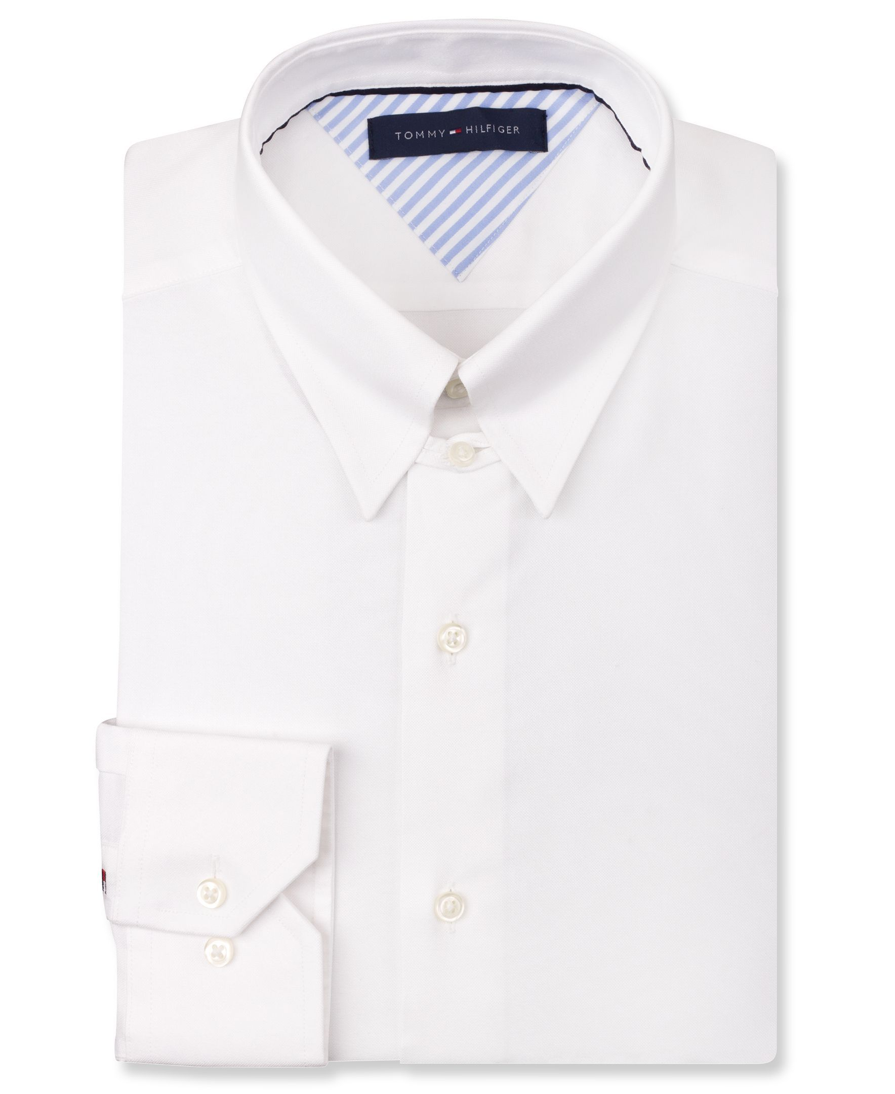 719988d378e Tommy Hilfiger White Tab Collar Dress Shirt