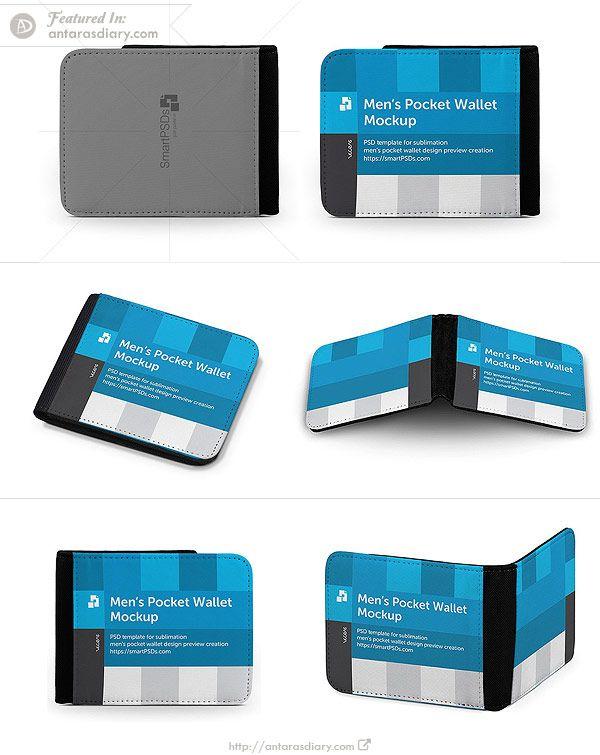 Men S Leather Wallet Mockup 6 Views Mockup Psd Leather Wallet Mens Best Wallet