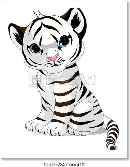 Free Art Print Of Cute White Tiger Cub In 2019 Tiger Tiere Malen