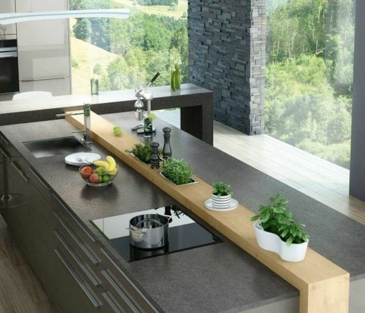 Kuecheninsel Modern Kuechenmoebel Küchenarbeitsfläche Aus Granit