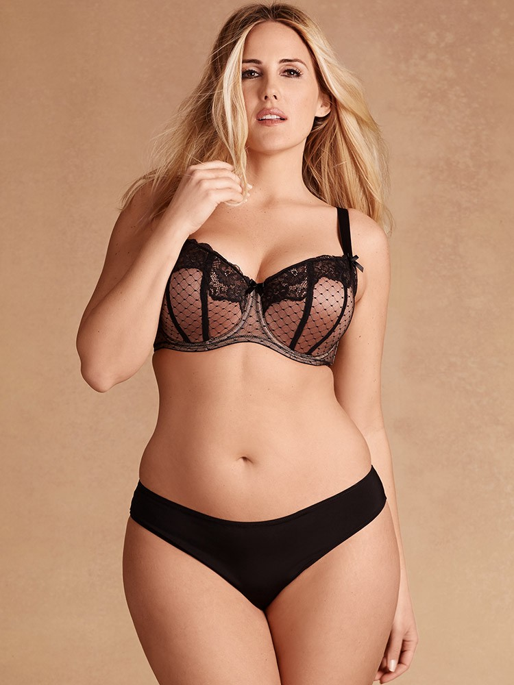 83ea6b0051d Hips And Curves Microfiber Hipster With Strappy Back - Black Large ...