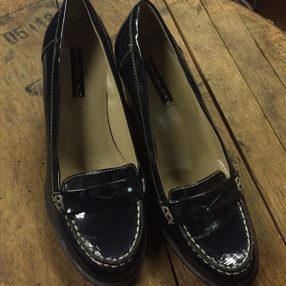 "Bandolino navy patent leather block heed Bandolino navy patent leather 3"" block heed. Great for classy office look. Bandolino Shoes"