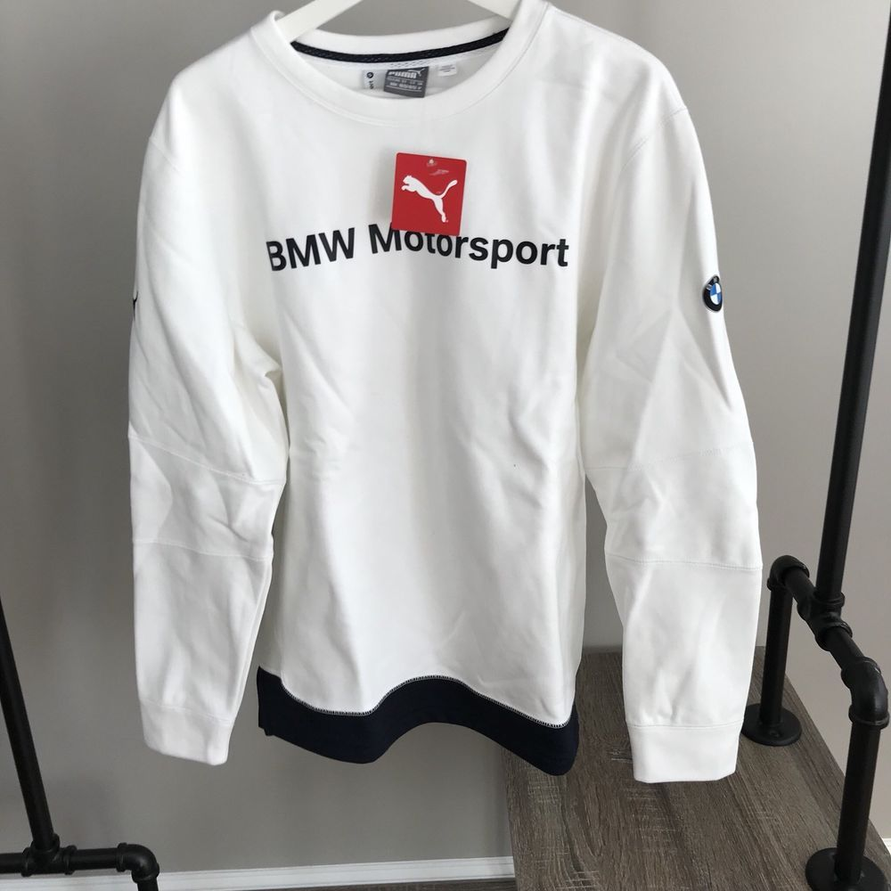 b3a86a9d3b1 Puma NEW BMW mens crew neck Motorsport sweater medium white pullover  sweatshirt  PUMA  SweatshirtCrew